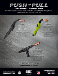 Push Pull Welding Gun Sales Sheet